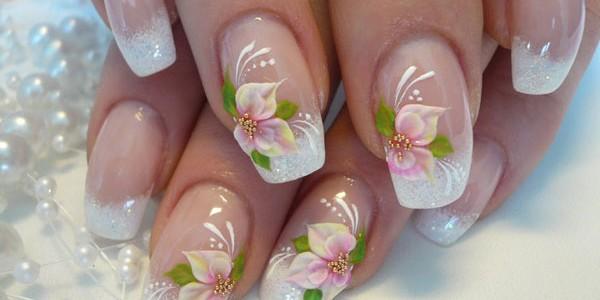 Дизайн ногтей с цветами 2016-2017